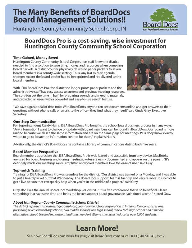 BoardDocs | Indiana School Boards Association | One North